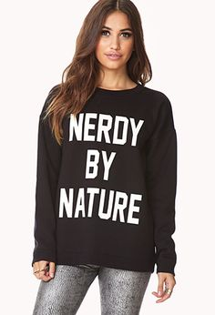 Nerdy By Nature Sweatshirt | FOREVER21 - 2000076093