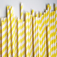 Yellow Stripe Paper Straws – The Sweet Hostess