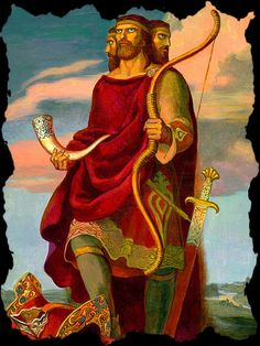 Svetovid is the Slavic god of war, fertility and abundance. He is four-headed war god. Svetovid's four heads stand for the four sides of the world that this all-seeing god is looking at. Russian Folk, Russian Art, Eslava, Vikings, Religion, God Of War, Gods And Goddesses, Conte, Deities