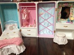 "American Girl size 18"" Doll Trunk Makeover! With tutorial!!"