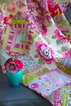 Amy Butler's Gypsy Caravan Fabrics on this quilt