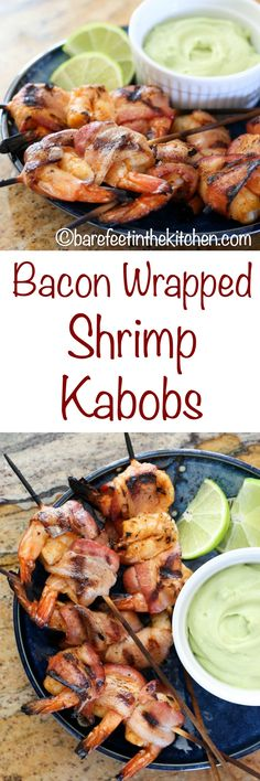 Bacon Wrapped Chipotle Shrimp Kabobs are a favorite for all ages! get ...