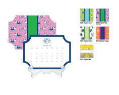 2016 Desk Calendar / Custom Calendar / Calendar with Stand / Bookplate Shape Calendar / 2017 Calendar / Monogrammed Calendar Elephant by DetailsandPaper on Etsy