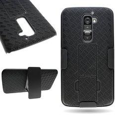 CoverON® Kickstand Holster Belt Clip Hard Combo Case for LG G2 - Black - https://twitter.com/cellphonetip/status/566582680150482944
