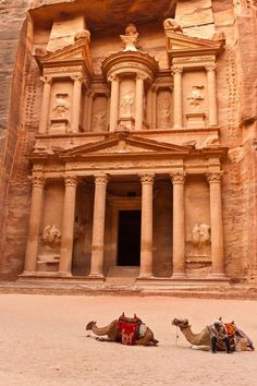"""Petra in Arabah, Jordan. Recently added to the """"New Seven Wonders of the World."""" This will always remind me of Indiana Jones and the Last Crusade! New Seven Wonders, Wonders Of The World, Places To Travel, Places To See, Wonderful Places, Beautiful Places, Places Around The World, Around The Worlds, Site Archéologique"""