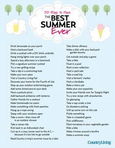 Need ideas for fun things to do in the summer? Here's our can't-miss checklist, your official summer bucket list!