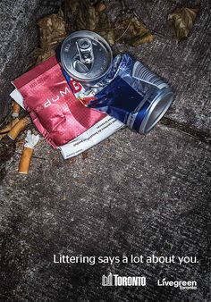 Toronto Anti-Littering Campaigns Use Arranged Trash To Ridicule Litterers