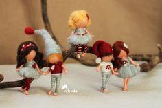 broches muñecas de fieltro de aguja inspiró a waldorf