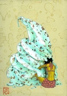 OcéanoMar - Art Site: yellowmenace: Japanese artist Fuco Ueda (上田風子)'s ethereal paintings.