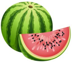 Large Painted Watermelon PNG Clipart