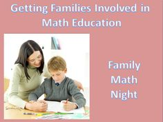 The Elementary Math Maniac: Getting Families Involved in Math Education Part 6