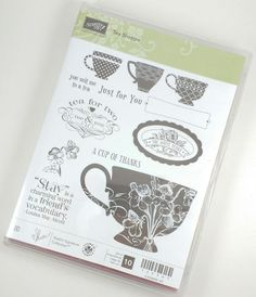 Stampin Up TEA SHOPPE Rubber Stamp Set Pre Owned #StampinUp