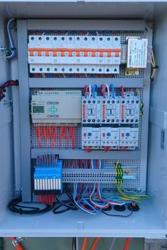 Manufactured in house to Australian Standards our electrical control panels & switchboards can be designed to cater for a wide range of applications. Electrical Panel Wiring, Electrical Symbols, Electrical Work, Electrical Projects, Electrical Installation, Solar Panel Battery, Solar Panel Kits, Solar Panel System, Electronic Engineering