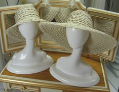 Straw Hats for Silkstone Barbie and similar size dolls