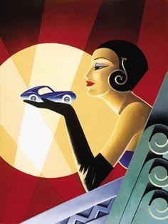 Art Deco Paintings | Art Deco