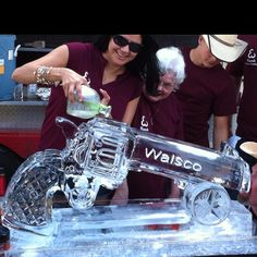 Six shooter ice luge.