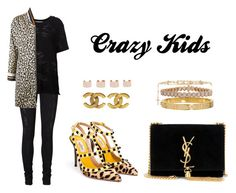 """Crazy Kids"" by anaelle2 ❤ liked on Polyvore featuring Vero Moda, IRO, Yves Saint Laurent, Bouchra Jarrar, Valentino, Cartier, Inbar, Givenchy, Chanel and Maison Margiela"