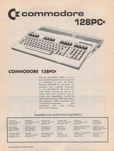Commodore 128 Ad