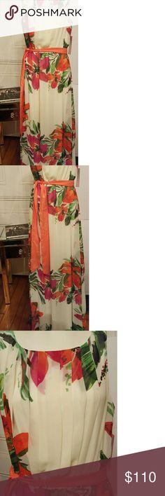 bcc21c1d51a Eliza J floral maxi dress sz 10 Beautiful