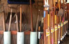 Comment Fabriquer Un Rangement Pour Les Outils De Jardin Idées