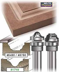Carbide tipped MLCS rasied panel router bits with undercutter, vertical raised panel router bits and faux raised panel bits for making fine cabinetry and raised panel doors Woodworking Router Bits, Diy Router, Router Tool, Router Cutters, Diy Cnc, Wood Router, Woodworking Tools, Building Kitchen Cabinets, Diy Cabinets