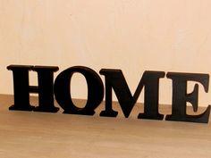 """Buchstaben & Schriftzüge - """"HOME"""" 15/3,6 cm in schwarz - ein Designerstück von Designsouris bei DaWanda"""