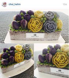 Korea 3D flower butter creamcake