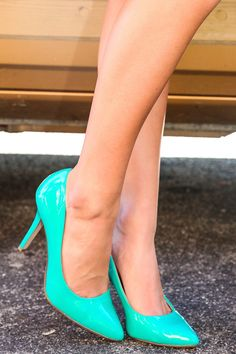 MUST HAVE!!!!!  Catwalk Status Heel-Aqua - Shoes | The Red Dress Boutique