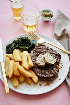 Sips and Spoonfuls: Rib Eye Steaks with Zaatar Butter. Magnificent to look at; must be spectacular to eat!