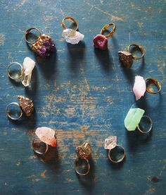 Crystal rings