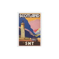 #VINTAGE SCOTLAND TRAVEL POSTER PASSPORT HOLDER - #travel #trip #journey #tour #voyage #vacationtrip #vaction #traveling #travelling #gifts #giftideas #idea