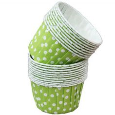 Green Polka Dot Treat Cups-party supplies