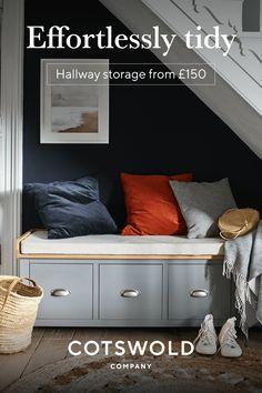 Entry Hall Furniture, Bedroom Furniture, Under Stairs Nook, Landing Decor, Sainsburys Home, Hallway Inspiration, Hallway Storage, Cool Gadgets To Buy, Interior Decorating