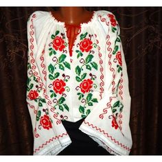 Imagini pentru modele ie Floral Tops, Costumes, Popular, Embroidery, Blouse, Women, Fashion, Needlework, Blouse Band