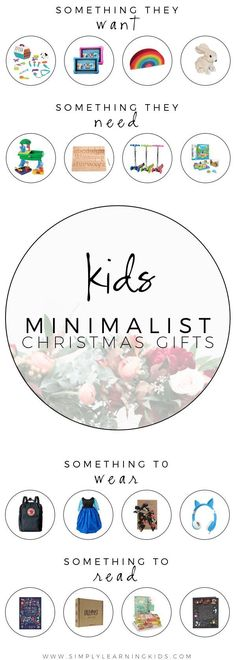 Minimalist Christmas Gifts For Kids 2017 - An extensive gift guide with creative ideas for implementing the 4 Gift Rule!