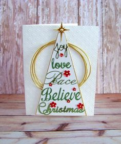 Christmas words tree