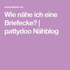 Wie nähe ich eine Briefecke? | pattydoo Nähblog