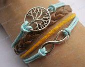 Karma-wish tree bracelet,infinity bracelet