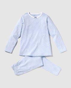 Pijama de niña Cotton Juice en azul con estampado