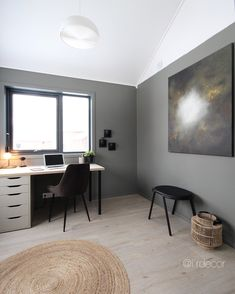 #interiør #interiordesign #kontor #hjemmekontor #office #homeoffice #homedecor Home Office, Office Desk, Iris, Corner Desk, Furniture, Design, Home Decor, Corner Table, Desk Office