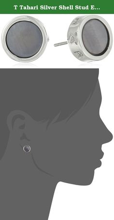 "T Tahari Silver Shell Stud Earrings. Made in China. T Tahari Shell Stud Earring. Grey Shell. 725"" Diameter. Imported."