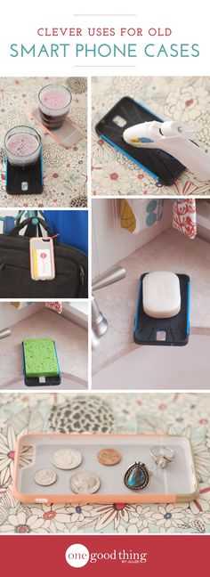 Gather up those old smartphone cases rattling around in your junk drawer and check out these handy ideas for reusing them!