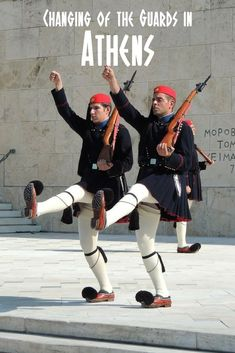 The changing of the guards in Athens takes place every hour, on the hour in front of the Tomb of the Unknown Solider near Syntagma Square. On Sundays at 11 am, the ceremony is a much more elaborate affair, as was this New Year's changing ceremony. Watch the video so you can see what to expect! #Athens #Evzones #Visitathens #Athensguide #whattodoinathens #whattoseeinathens #topthingstodoinathens #changingoftheguard #athensguide