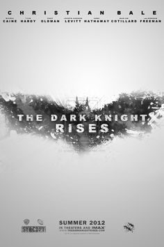 Fan-made poster for 'The Dark Knight Rises.'