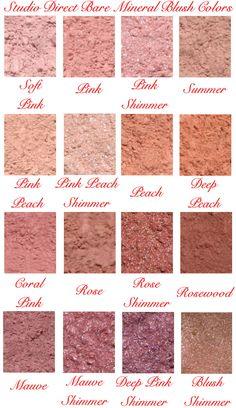 Bare Mineral Blush Swatches Pretty Pinterest Bare