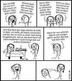 Toller Mensch. Is lieb?   #freundinnen #aufmuntern #verwöhnen #traurig #deprimiert #comic #islieb