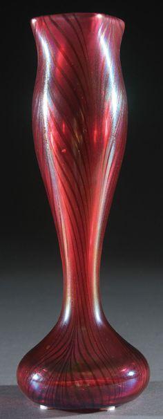 Loetz bud vase.