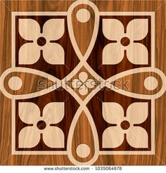 abstract texture design pattern for wall tile and floor tile , marble tile mosaic , geometric wood carving pattern  ( brown  ivory home decorative ceramic texture )