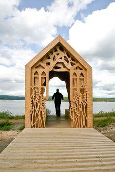 Freya's Cabin at Kielder Water, England