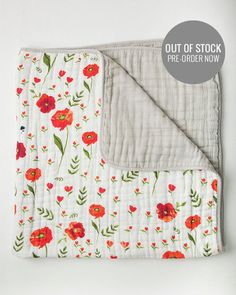 Cotton Quilt - Summer Poppy - lots of cute boy and girl swaddle blankets $16